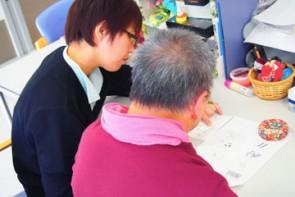言語聴覚士による言語練習